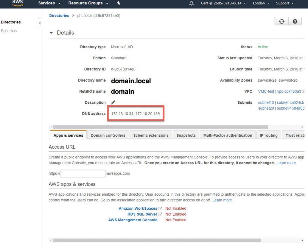 Link VMware Cloud on AWS vCenter to AD in AWS | Gert Van Gorp